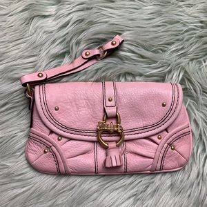Juicy Couture Pink Leather Mini Wristlet